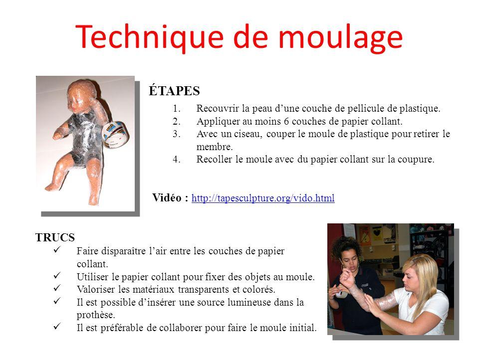 Technique de moulage ÉTAPES 1.Recouvrir la peau dune couche de pellicule de plastique.
