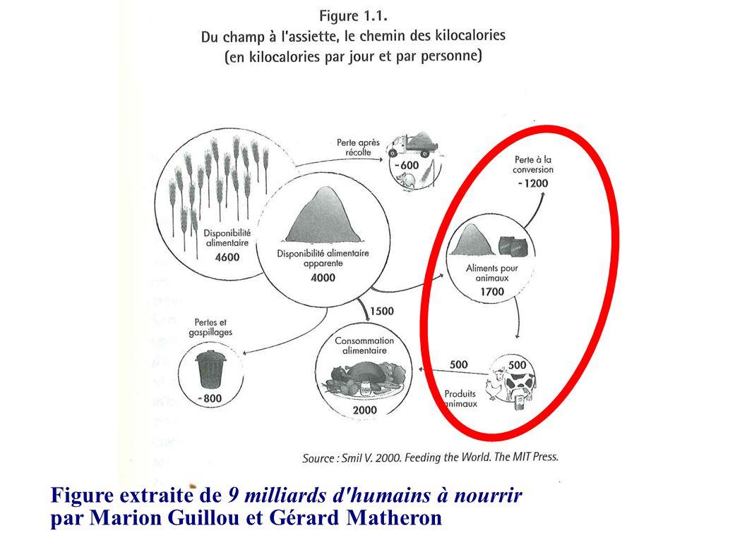 Figure extraite de 9 milliards d'humains à nourrir par Marion Guillou et Gérard Matheron