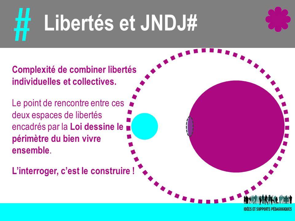 Libertés et JNDJ# Complexité de combiner libertés individuelles et collectives. Le point de rencontre entre ces deux espaces de libertés encadrés par
