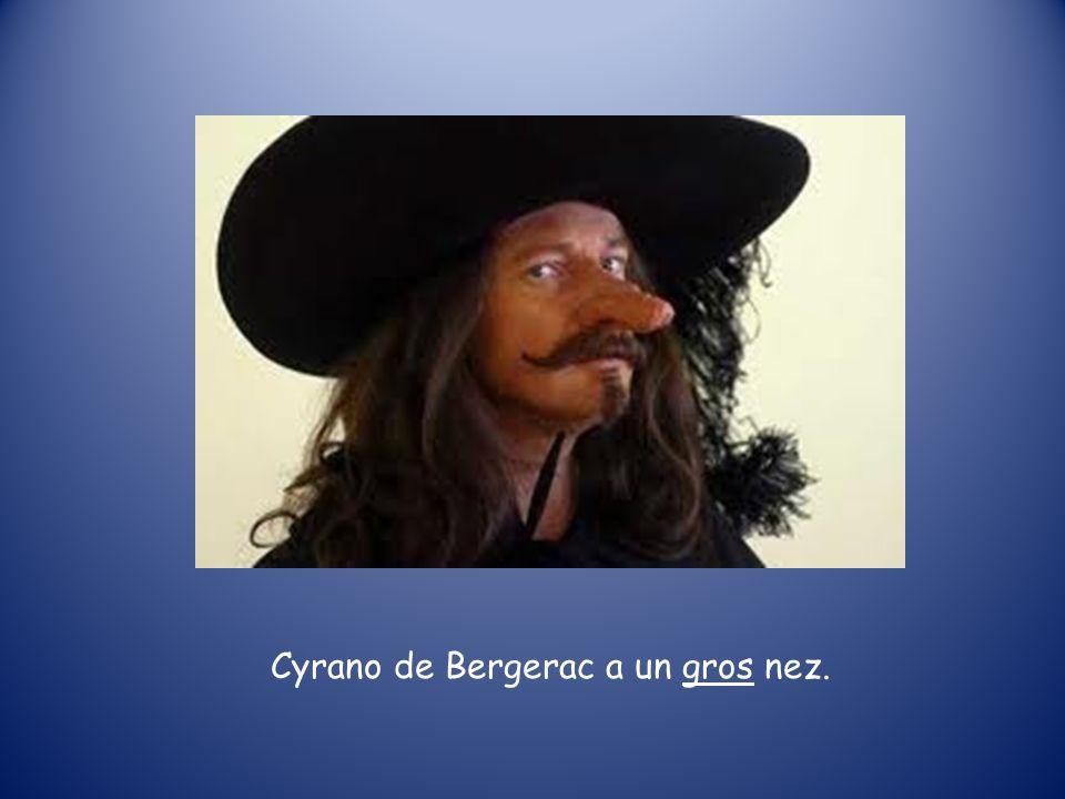Cyrano de Bergerac a un gros nez.