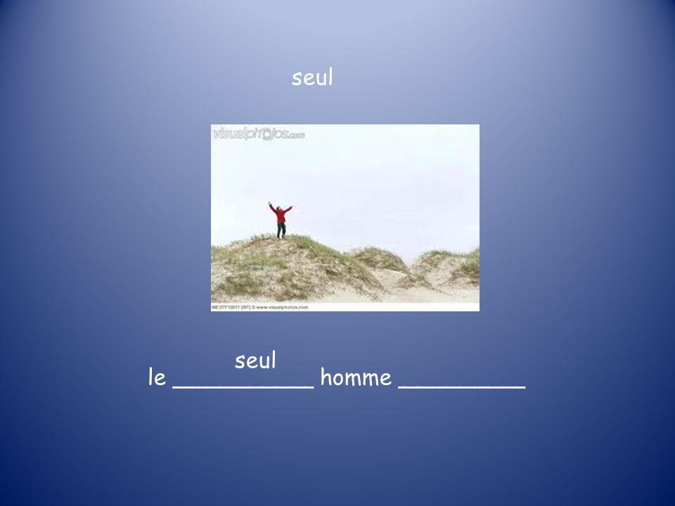 le __________ homme _________ seul