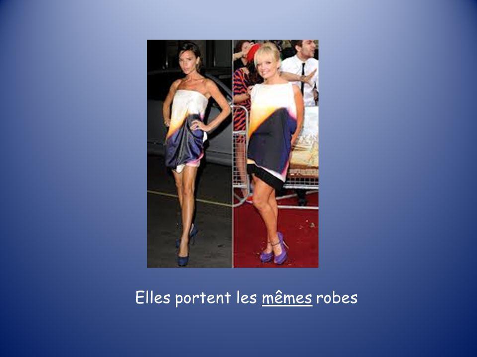 Elles portent les mêmes robes