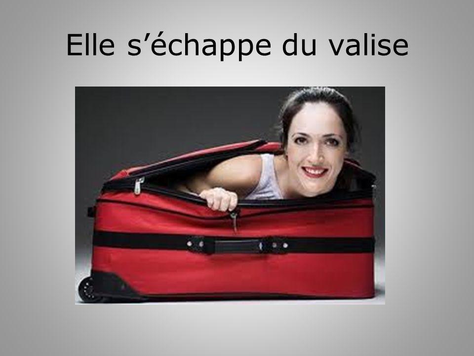 Elle séchappe du valise
