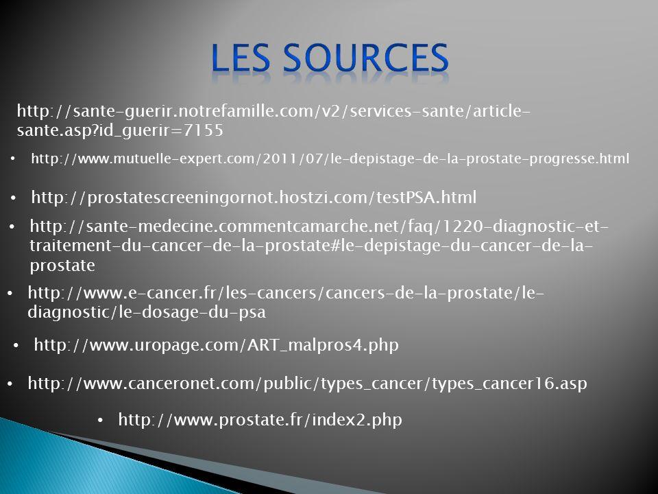 http://www.mutuelle-expert.com/2011/07/le-depistage-de-la-prostate-progresse.html http://prostatescreeningornot.hostzi.com/testPSA.html http://sante-m