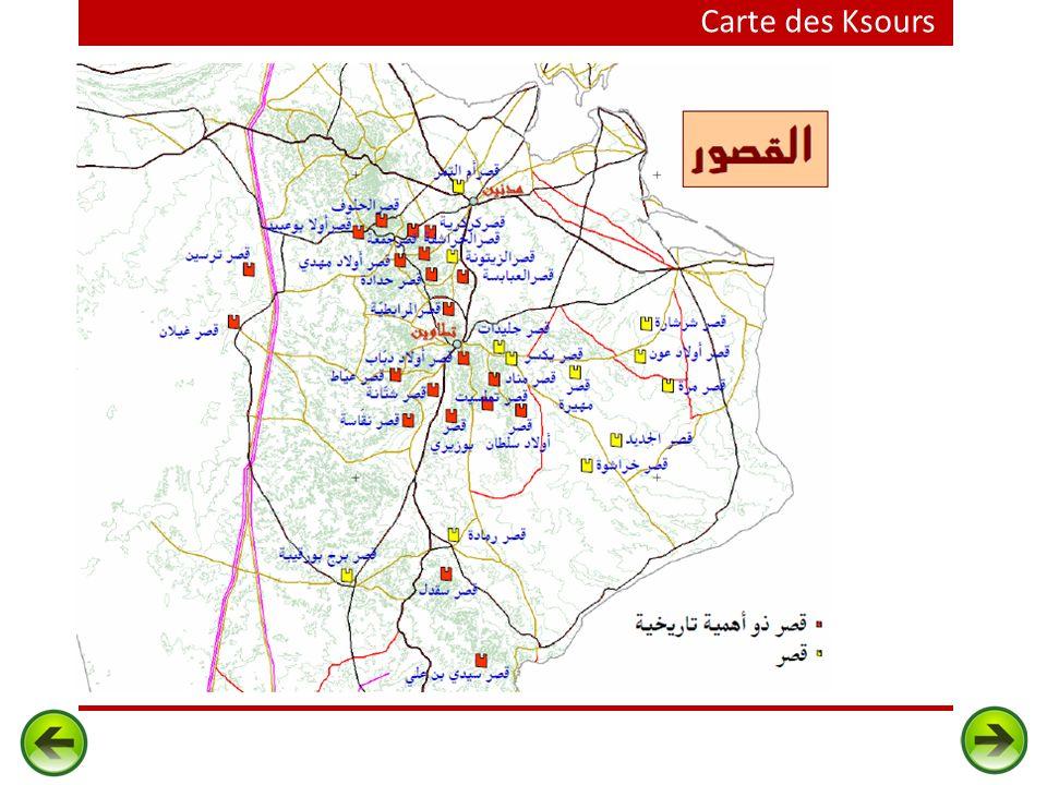 Carte des Ksours