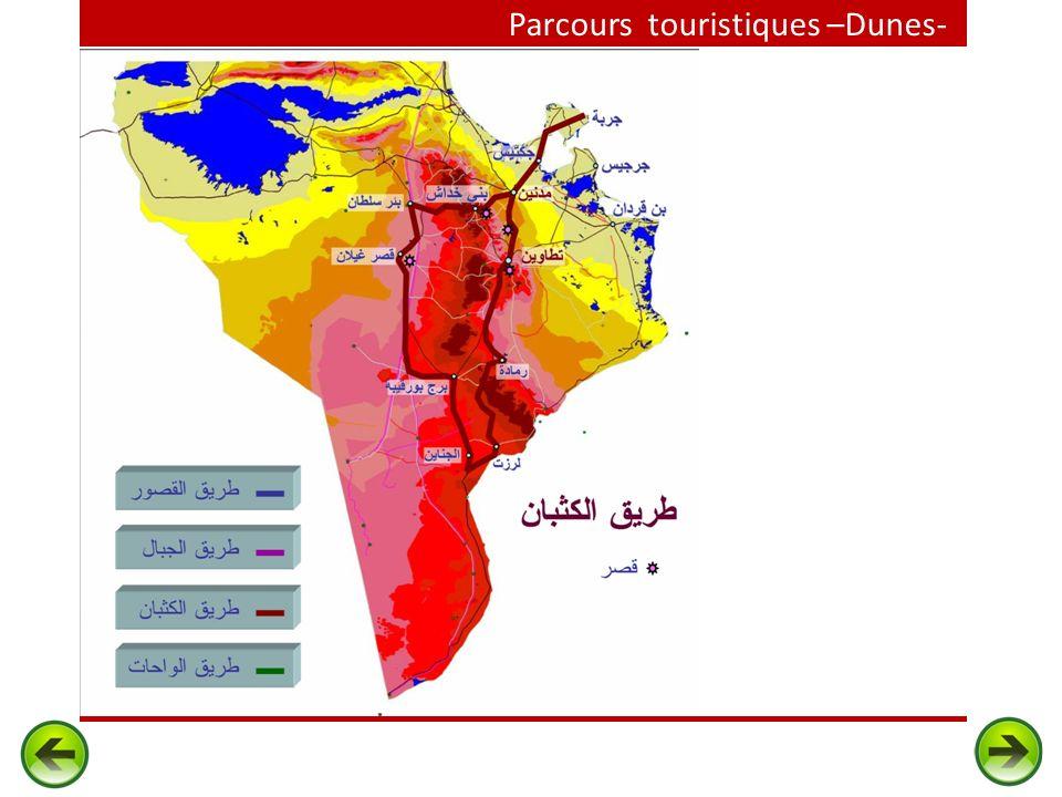 Parcours touristiques –Dunes-