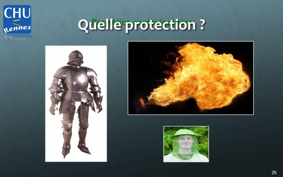 25 Protection contre la piqûre Quelle protection ?