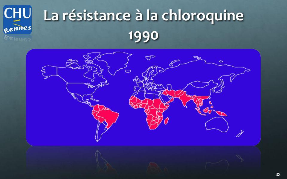 33 La résistance à la chloroquine 1990