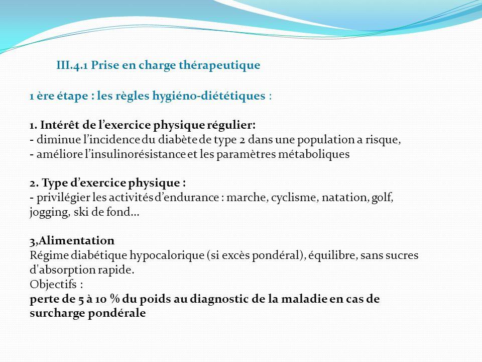 III.4.1 Prise en charge thérapeutique 1 ère étape : les règles hygiéno-diététiques : 1. Intérêt de lexercice physique régulier: - diminue lincidence d