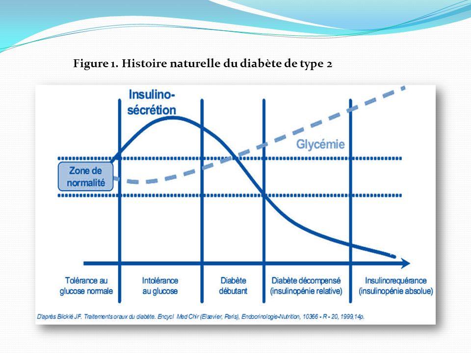 Figure 1. Histoire naturelle du diabète de type 2