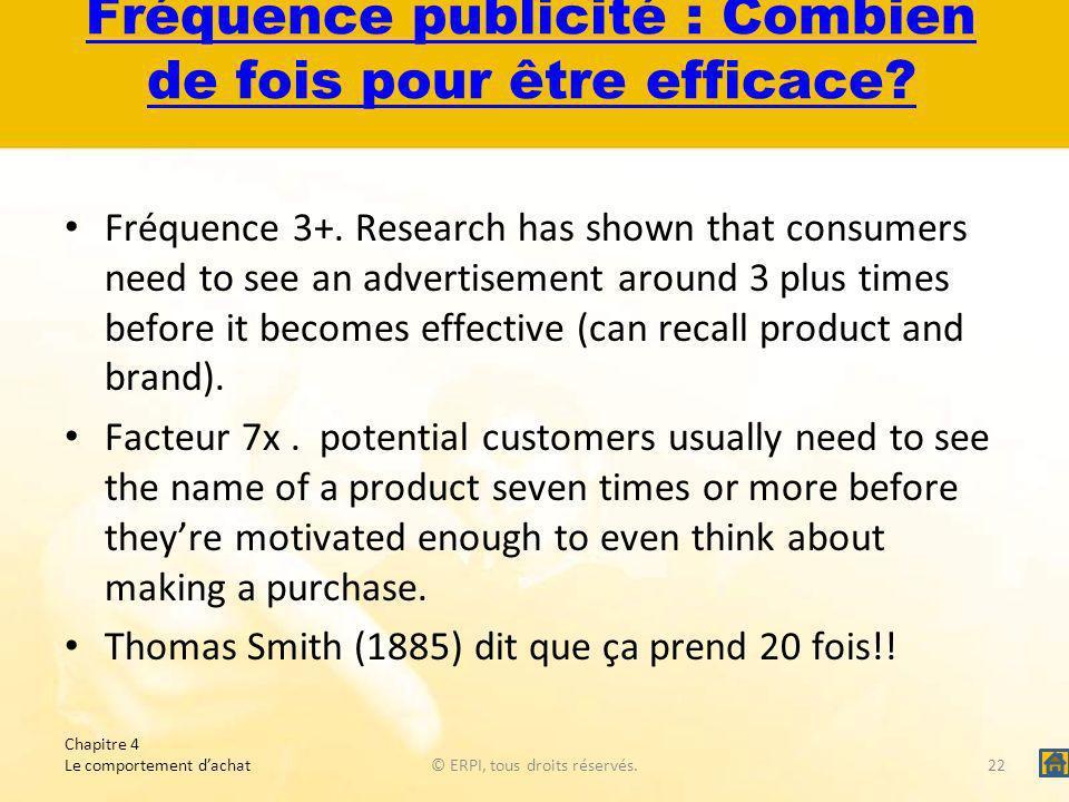 Fréquence publicité : Combien de fois pour être efficace.