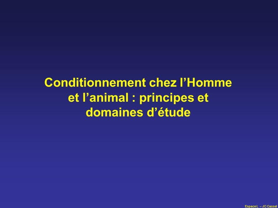 Espace L – JC Cassel Conditionnement chez lHomme et lanimal : principes et domaines détude
