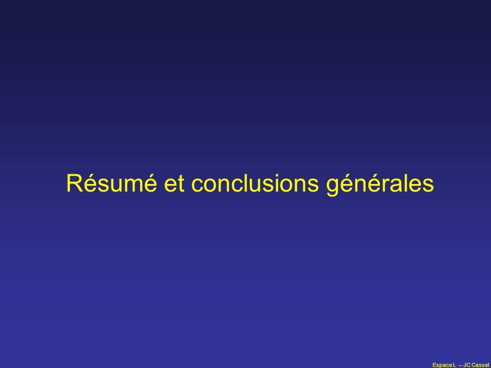 Espace L – JC Cassel Résumé et conclusions générales