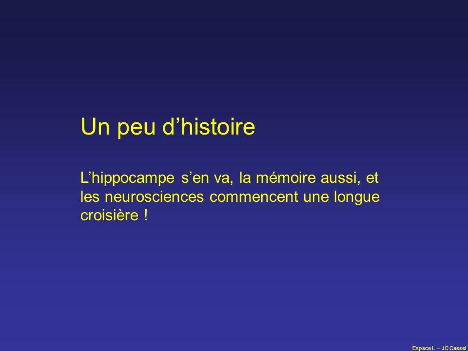 Espace L – JC Cassel Un peu dhistoire Lhippocampe sen va, la mémoire aussi, et les neurosciences commencent une longue croisière !