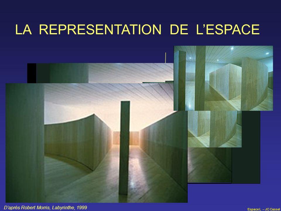 Espace L – JC Cassel LA REPRESENTATION DE LESPACE Daprès Robert Morris, Labyrinthe, 1999