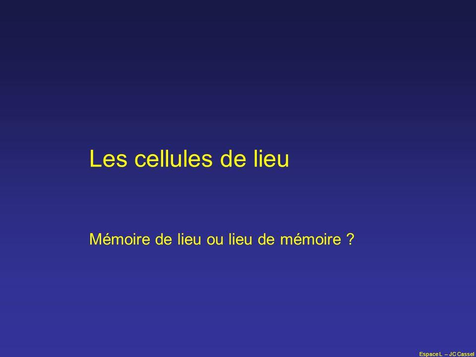 Espace L – JC Cassel Les cellules de lieu Mémoire de lieu ou lieu de mémoire ?