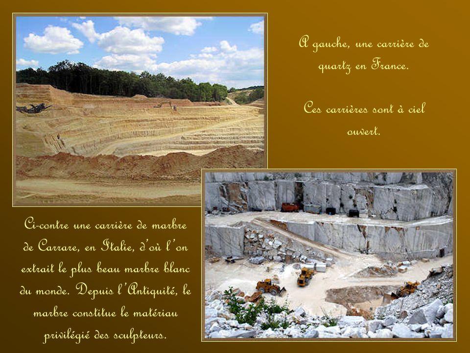 Afin dutiliser les matières résistantes pour son habitat et son outillage, lHomme a extrait de la pierre par des ouvertures faites dans la masse des r