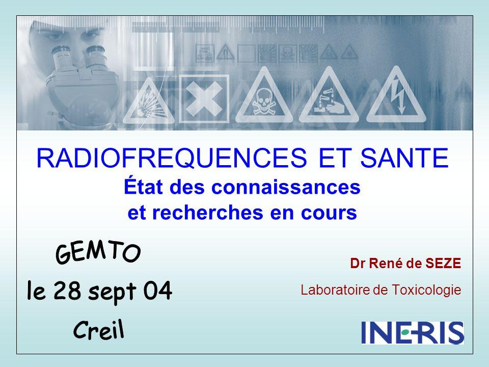 LES CHAMPS ELECTROMAGNÉTIQUES DE FAIBLE INTENSITÉ NE PROVOQUENT PAS DALTÉRATION DE LA SANTÉ DES EFFETS BIOLOGIQUES OBSERVES AVEC LES CHAMPS DES TELEPHONES JUSTIFIENT DÉVALUER LEUR IMPACT SANITAIRE