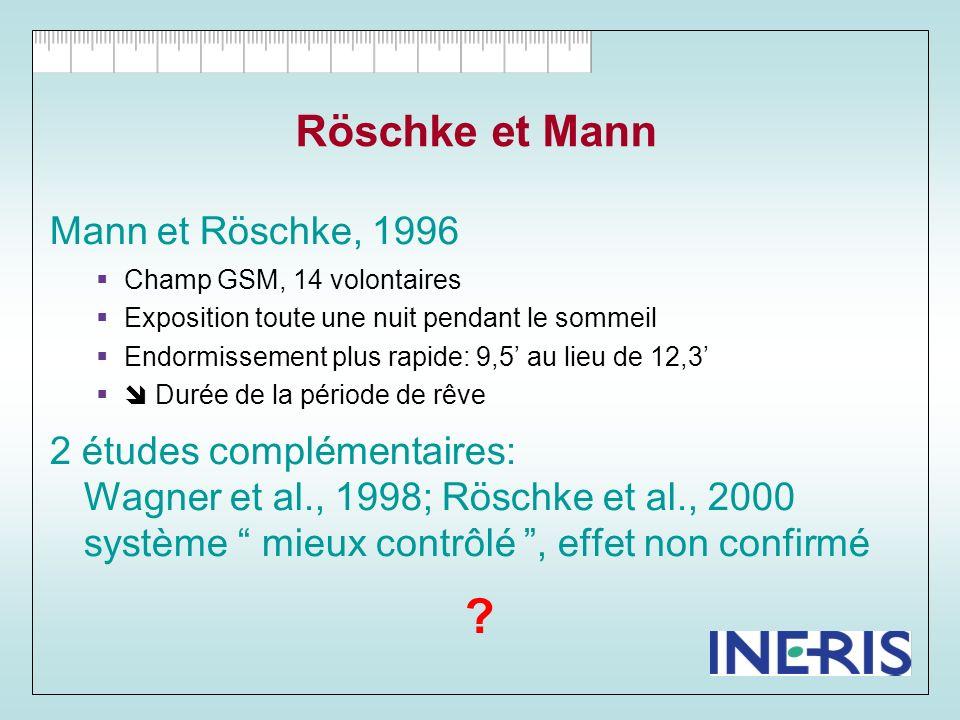 Borbely, 1999 éveils nocturnes Intensité EEG pendant les rêves Billiard et de Seze : faisabilité .