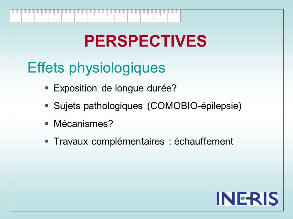 CONCLUSION Effets biologiques .