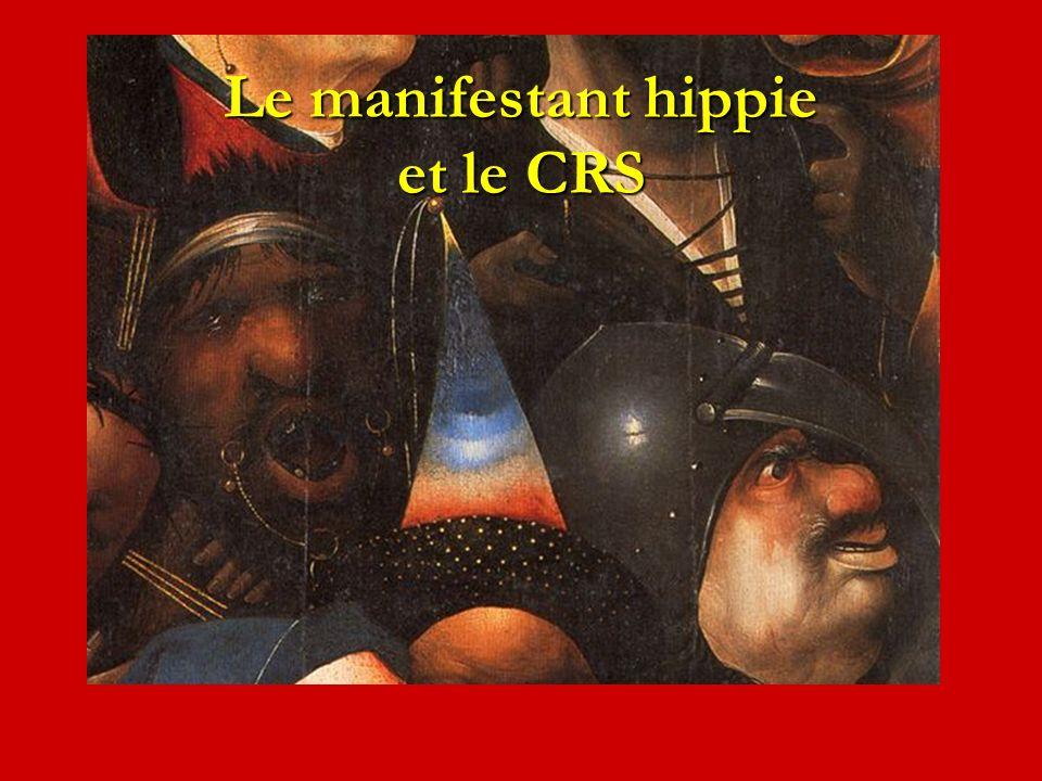 Le manifestant hippie et le CRS