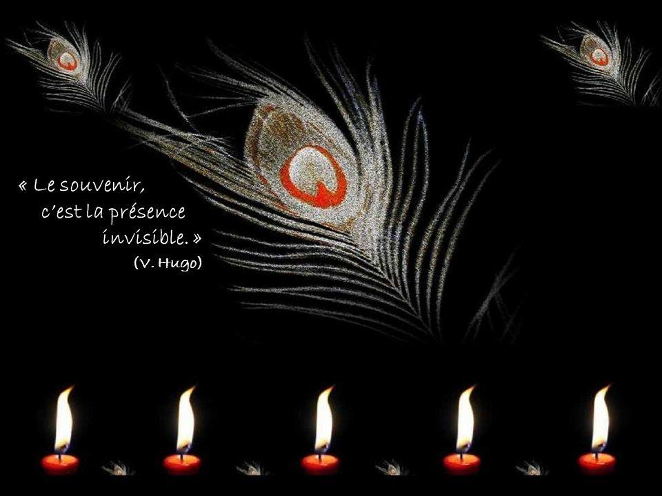 « Le souvenir, cest la présence invisible. » (V. Hugo)