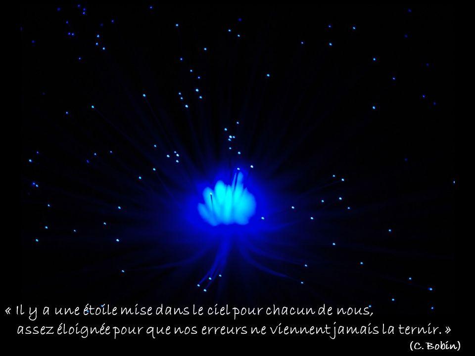 « Il y a une étoile mise dans le ciel pour chacun de nous, assez éloignée pour que nos erreurs ne viennent jamais la ternir.