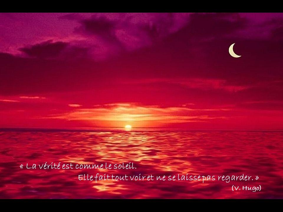 « La vérité est comme le soleil. Elle fait tout voir et ne se laisse pas regarder. » (V. Hugo)