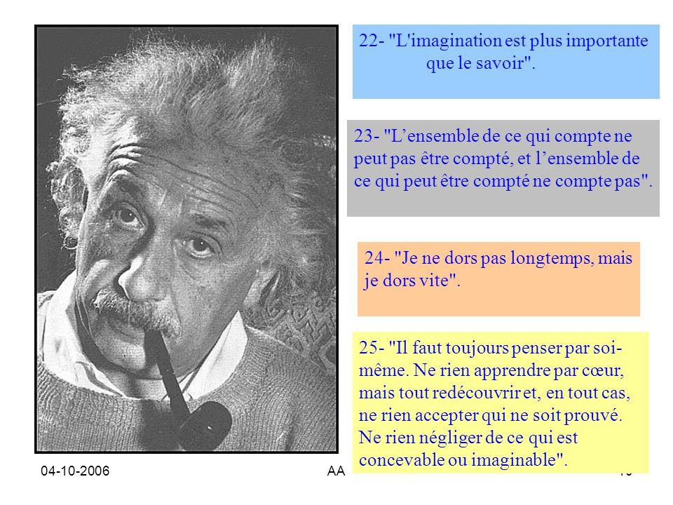 04-10-2006AA10 22- L imagination est plus importante que le savoir .