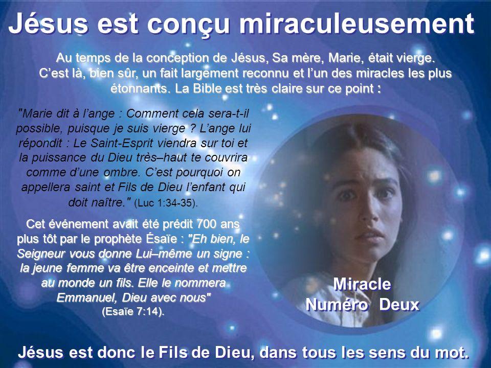 Jésus est conçu miraculeusement Marie dit à lange : Comment cela sera-t-il possible, puisque je suis vierge .