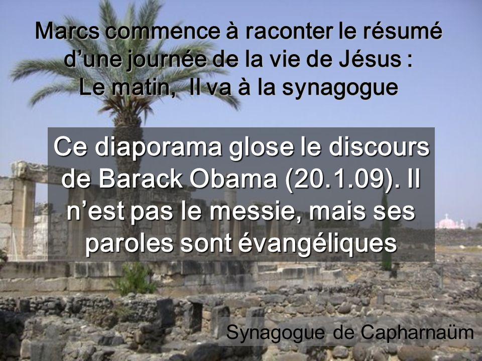 Ce diaporama glose le discours de Barack Obama (20.1.09).