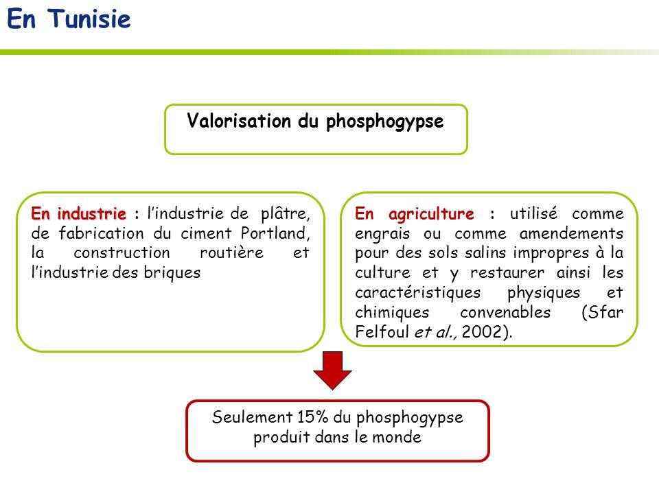 Alternative biologique; utiliser les plantes Couvert végétale: Pour réduire la pollution et stabiliser le phosphogypse Phytoremédiation: Utiliser les plantes hyper- accumulatrices ayant la capacité à tolérer et extraire des quantités importantes de métaux lourds des sols et des eaux souillées En Tunisie