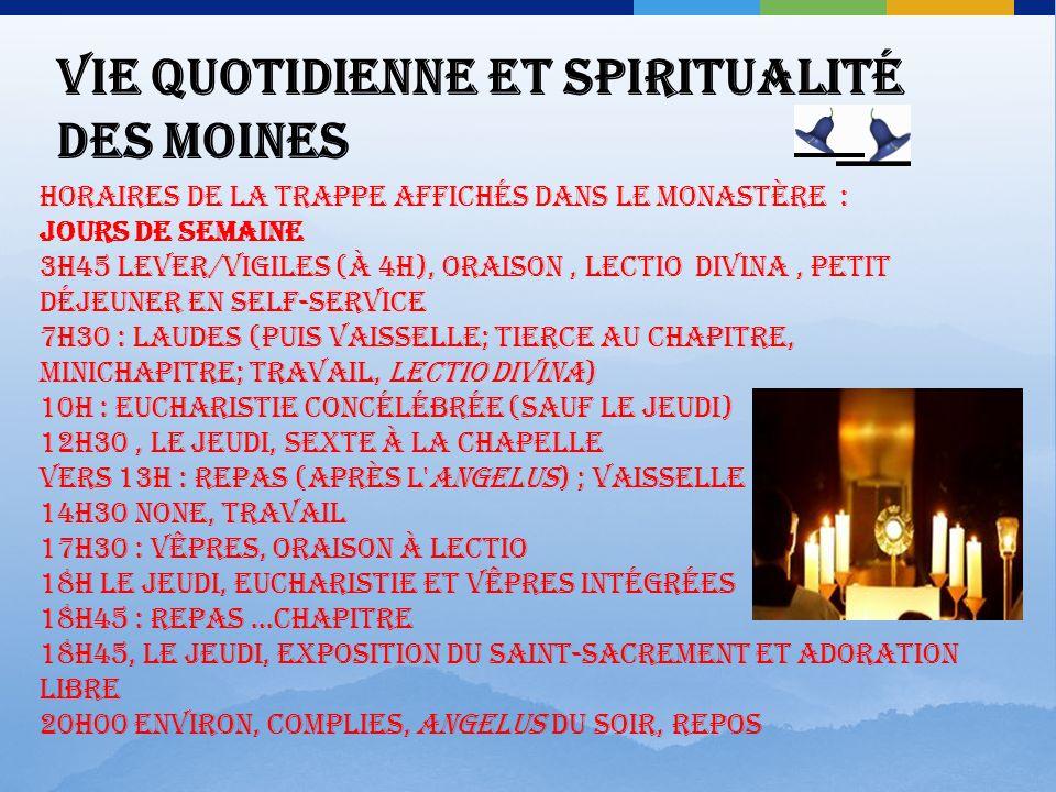 Frère Paul Favre-Miville 57 ans, moine depuis 1984. Né en Savoie a d'abord été plombier, et fait son service militaire en Algérie comme officier parac