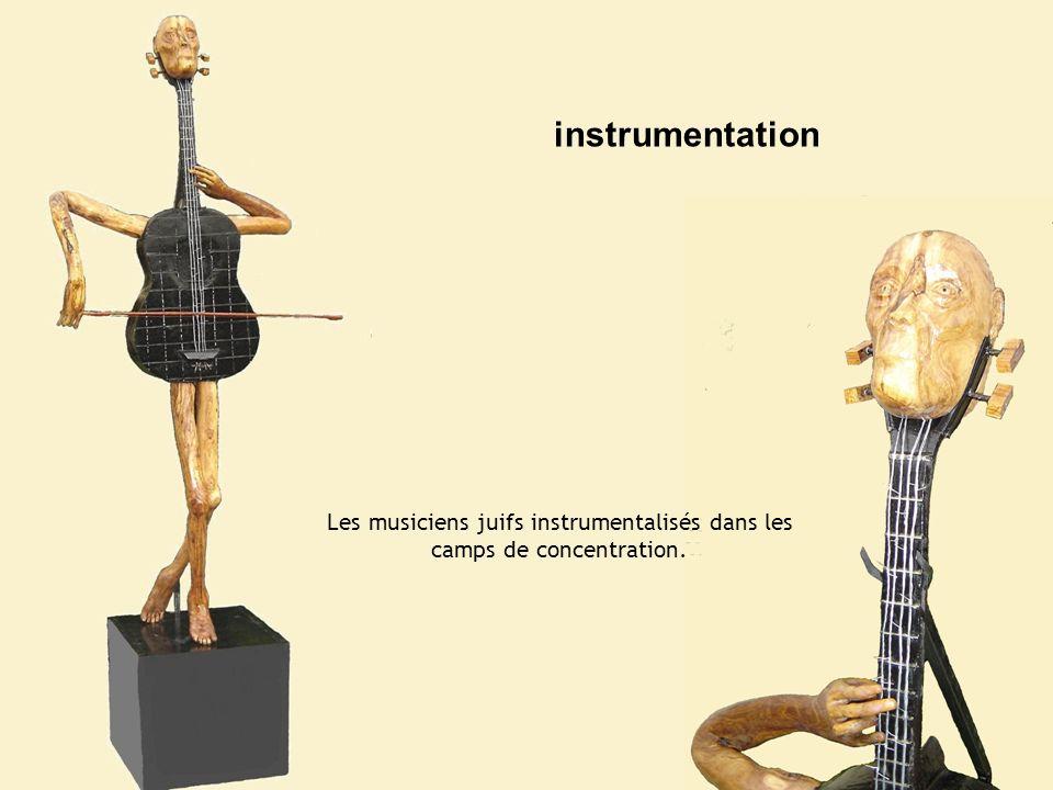 Les musiciens juifs instrumentalisés dans les camps de concentration. instrumentation