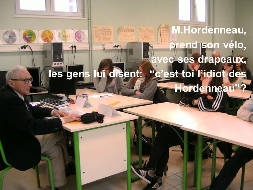 Les élèves de 4° et 3° Segpa du collège s'expriment suite au témoignage de M. Hordenneau avril 2013