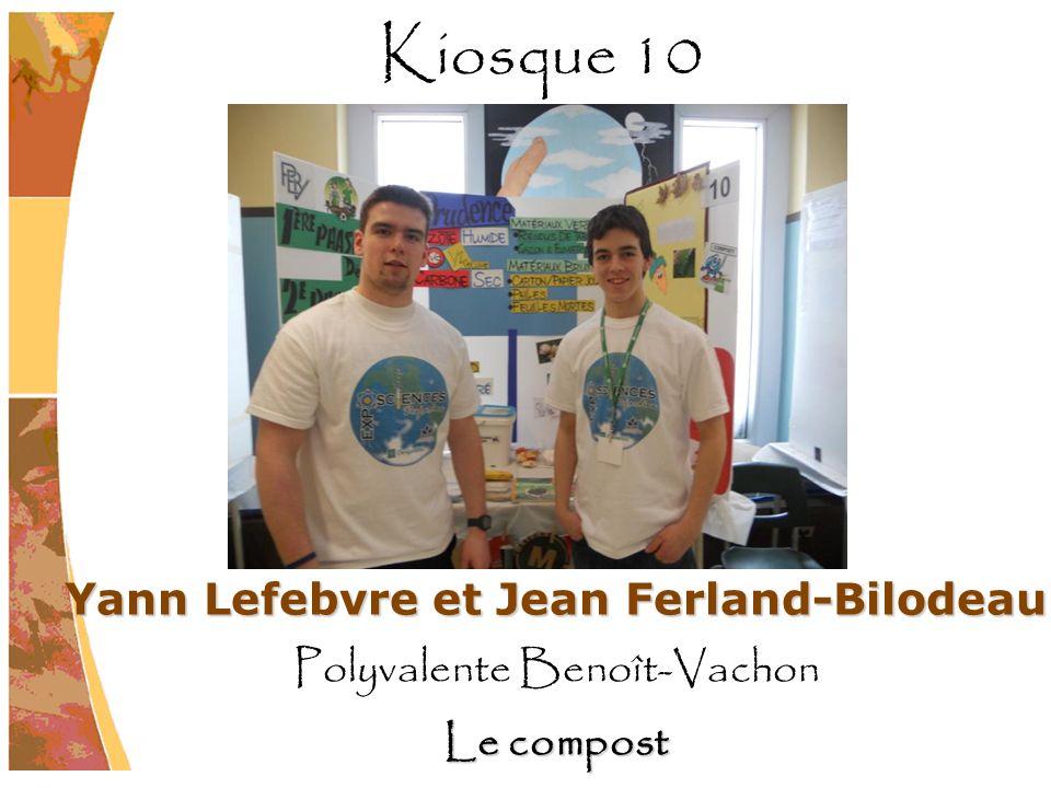 Yann Lefebvre et Jean Ferland-Bilodeau Polyvalente Benoît-Vachon Le compost Kiosque 10