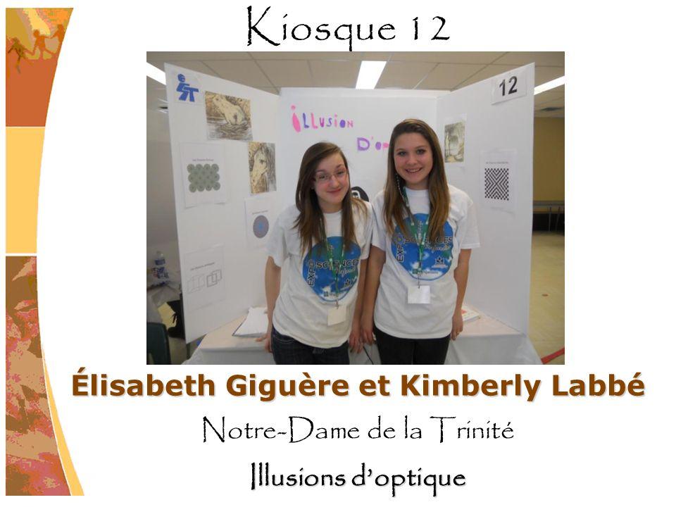 Élisabeth Giguère et Kimberly Labbé Notre-Dame de la Trinité Illusions doptique Kiosque 12