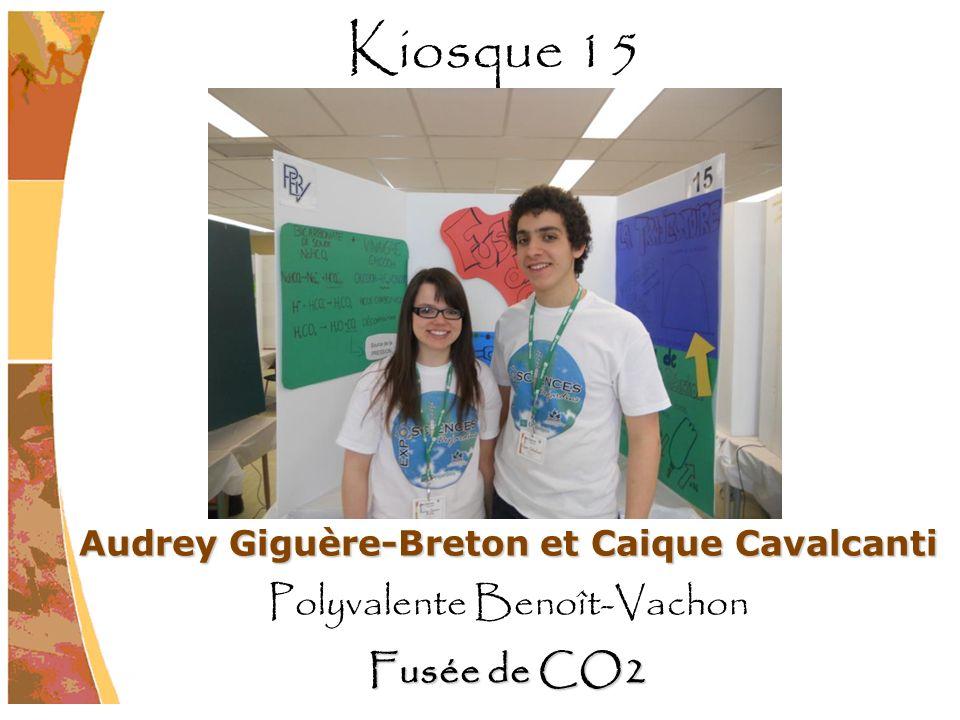 Audrey Giguère-Breton et Caique Cavalcanti Polyvalente Benoît-Vachon Fusée de CO2 Kiosque 15