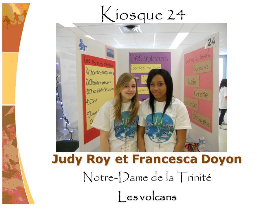 Judy Roy et Francesca Doyon Notre-Dame de la Trinité Les volcans Kiosque 24