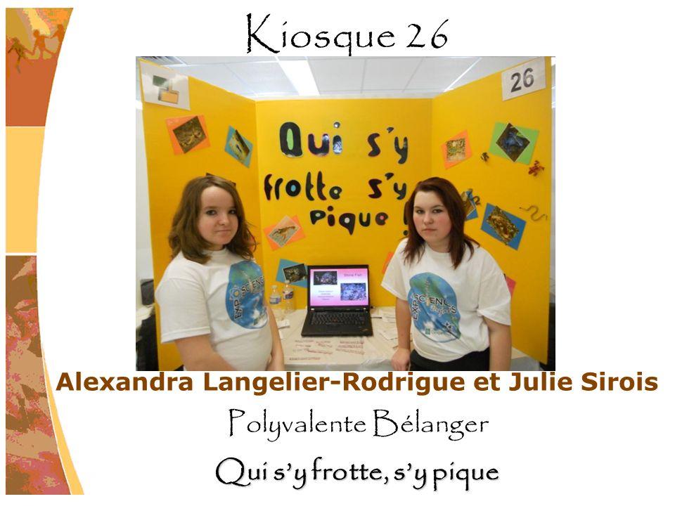 Alexandra Langelier-Rodrigue et Julie Sirois Polyvalente Bélanger Qui sy frotte, sy pique Kiosque 26