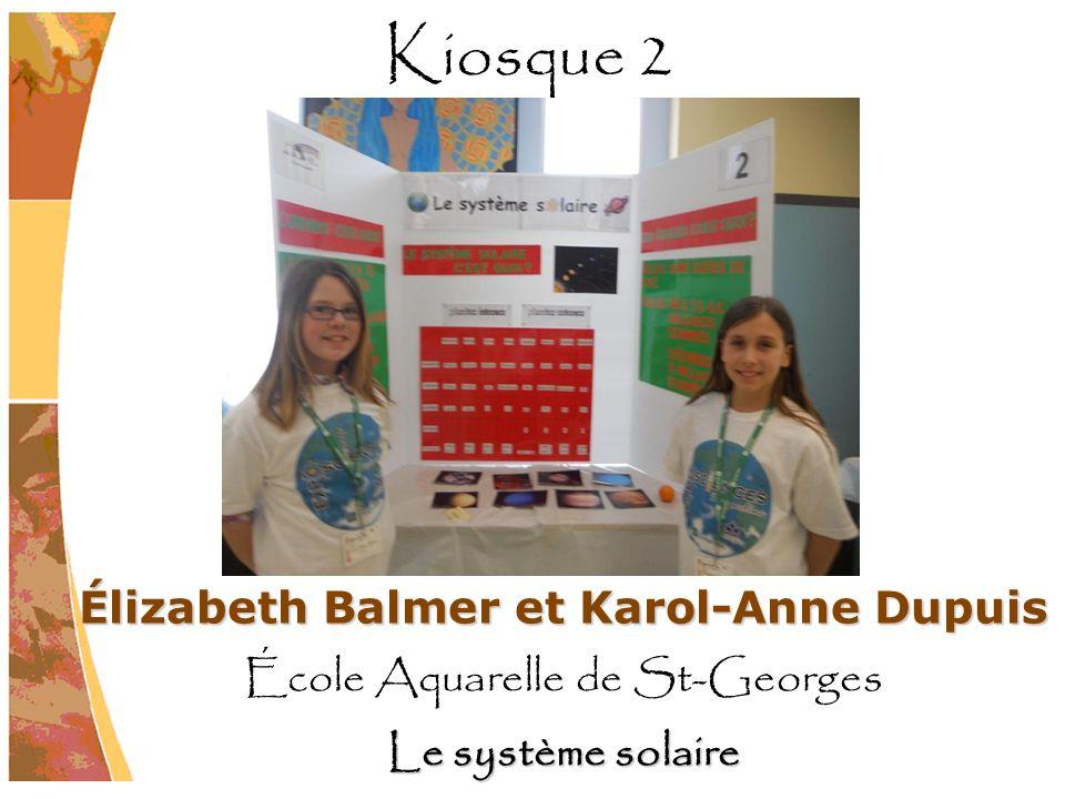 Élizabeth Balmer et Karol-Anne Dupuis École Aquarelle de St-Georges Le système solaire Kiosque 2