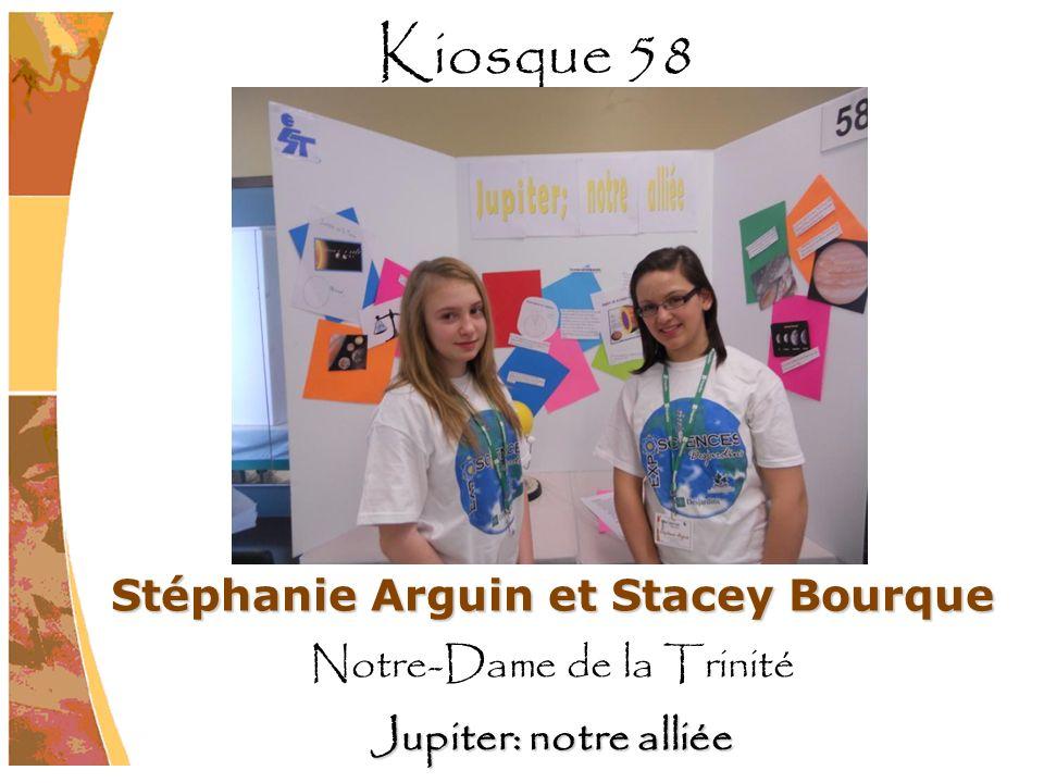 Stéphanie Arguin et Stacey Bourque Notre-Dame de la Trinité Jupiter: notre alliée Kiosque 58