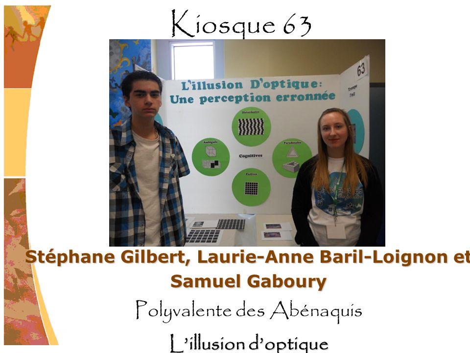 Stéphane Gilbert, Laurie-Anne Baril-Loignon et Samuel Gaboury Polyvalente des Abénaquis Lillusion doptique Kiosque 63