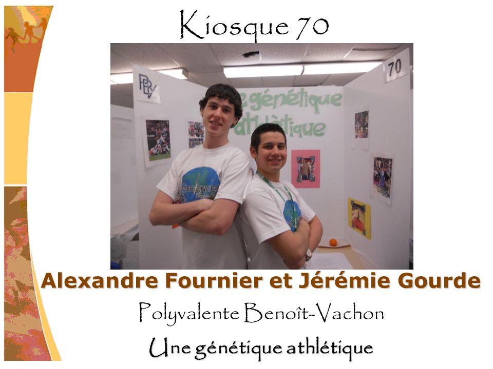 Alexandre Fournier et Jérémie Gourde Polyvalente Benoît-Vachon Une génétique athlétique Kiosque 70