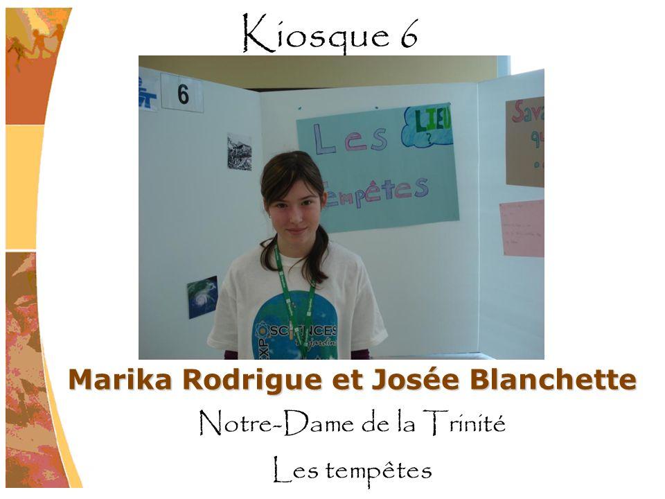 Marika Rodrigue et Josée Blanchette Notre-Dame de la Trinité Les tempêtes Kiosque 6