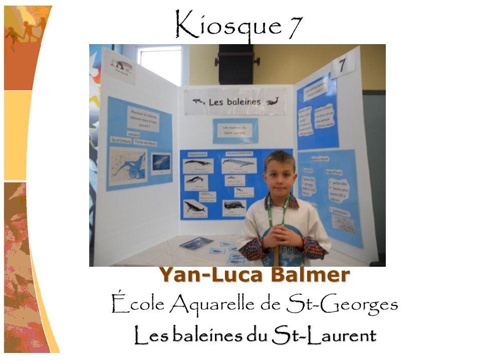 Yan-Luca Balmer École Aquarelle de St-Georges Les baleines du St-Laurent Kiosque 7