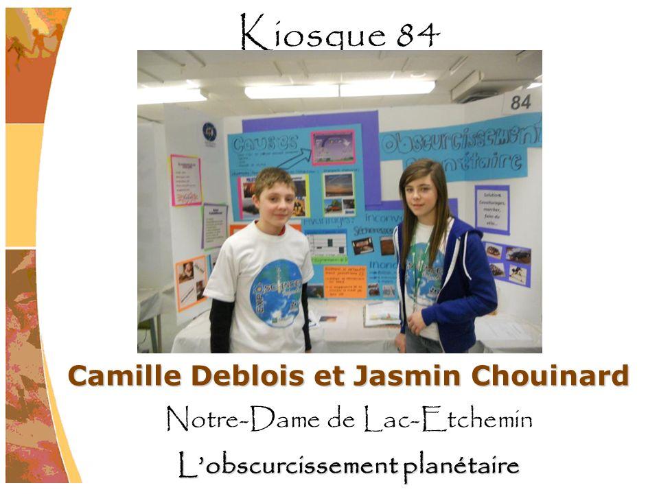 Camille Deblois et Jasmin Chouinard Notre-Dame de Lac-Etchemin Lobscurcissement planétaire Kiosque 84