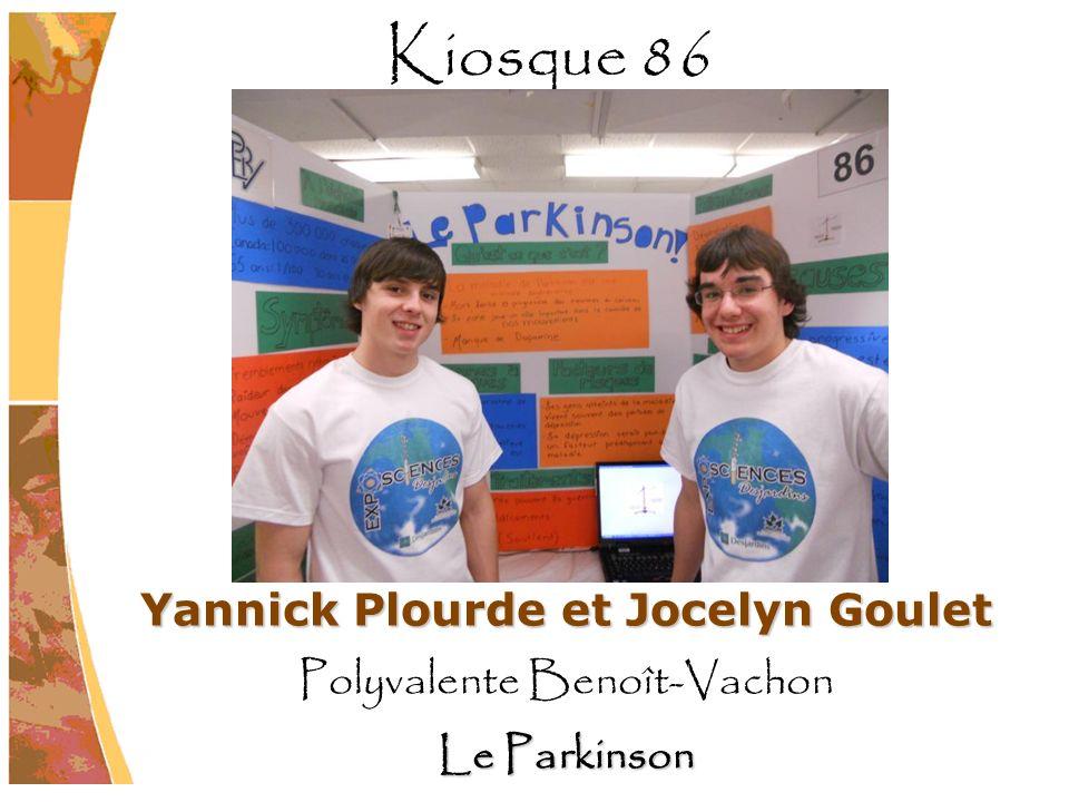 Yannick Plourde et Jocelyn Goulet Polyvalente Benoît-Vachon Le Parkinson Kiosque 86