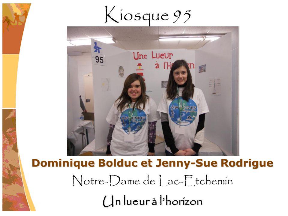 Dominique Bolduc et Jenny-Sue Rodrigue Notre-Dame de Lac-Etchemin Un lueur à lhorizon Kiosque 95