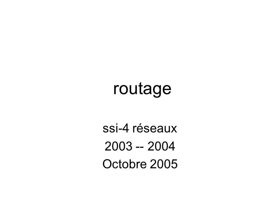 routage ssi-4 réseaux 2003 -- 2004 Octobre 2005